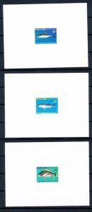 [48385] Djibouti 1986 Marine life Fish 3 Luxury sheets MNH