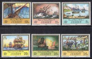 Jersey 300-305 Sailing Ships MNH VF