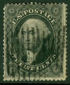 EDW1949SELL : USA 1857 Scott #36 Used. Deep color with grid cancel. Catalog $350