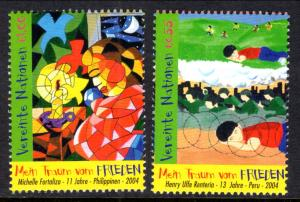UN Vienna 353-354 MNH VF