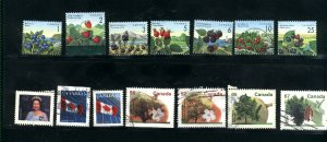Canada #1349-55, 1357, 1361-62, 1365-68   used VF  PD