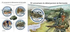 Z08 IMPERF GU190227ab GUINEA (Guinee) 2019 Normandy landings MNH ** Postfrisch