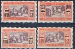 Senegal 127-30 MLH set Preparing food surcharged 1922 (S0775)
