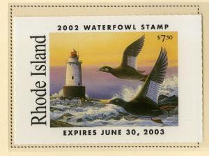 US RI7 RHODE ISLAND STATE DUCK STAMP 2002 MNH SCV $12.00 BIN $6.00