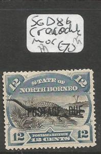 North Borneo Postage Due SG D8b Crocodile MOG (4cln)