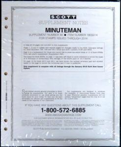 Scott US Minuteman Supplement #46 for Stamp issued in 2014