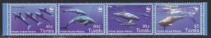 Tuvalu MNH Strip 1022 Pygmy Killer Whales 2006