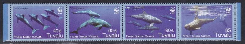 Tuvalu MNH Strip 1022 Pygmy Killer Whales Marine Life 2006
