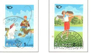 Aland Sc  116-7 1995 Golf Fishing stamp set used