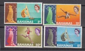 J26639 1968  bahamas set mh #276-9 sports