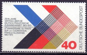 Germany. 1973. 753. Friendship with France. MNH.