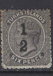 Turks Island 1881 SC 7 Mint SCV$ 100.00