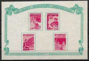 1959 Albania #551a Liberation 15th Anniversary MNH S/S