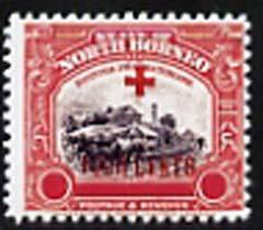 North Borneo 1918 Red Cross 3c Railway Station plus 4c (w...