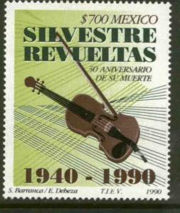 MEXICO 1665, Silvestre Revueltas Composer 50th DEATH ANNIV MINT, NH. F-VF.