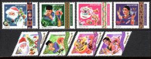 Singapore 952-959, MNH. Festivals.Christmas,Eid ul-Fitr,New Year,Deepavali, 2000