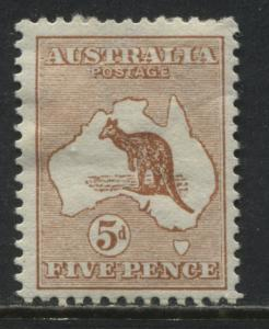 Australia 1913 5d orange brown Roo Perth mint o.g.