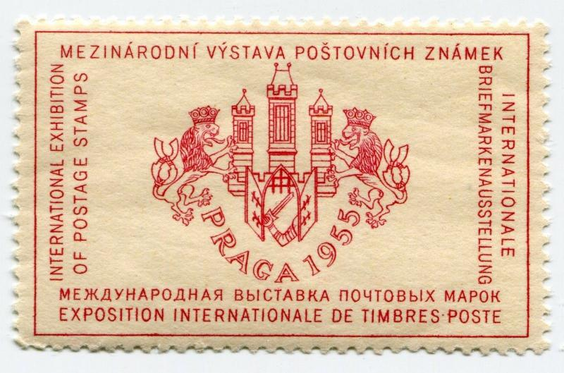 PRAGA Prague 1955 Intl Expo Postage Revenue Poster Stamp World Show