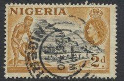 Nigeria  SG 72a SC# 83 Used  QEII 1953   Tin Mining please see scan