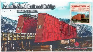 CA19-039, 2019, Historic Covered Bridges, Pictorial Postmark, First Day Cover,