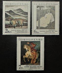Czechoslovakia 2721-23. 1988 Art, NH