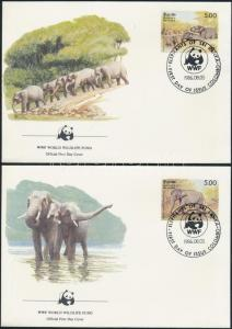 Sri Lanka stamp WWF: Ceylon elephant set 4 on FDC 1986 WS100729