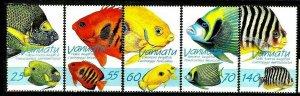Vanuatu 1997 marine life fish set MNH