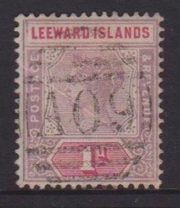 Leeward Islands Sc#2 Used - Postmark Cancel Nevis A09