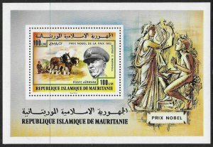 1977 Mauritania 568/B17 Horses / Nobel Laureates 8,00 €