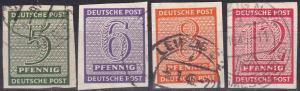 Germany Mi#116Y-119Y  MNH Rising  Watermark  CV $100.00  Z755