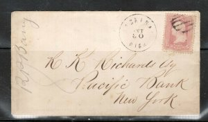 USA #64 Used Pink Washington On Cover To NY **With Certificate**