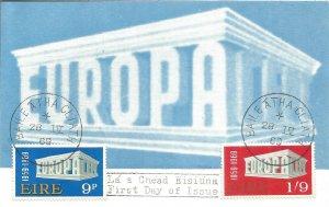 Maximum Card EIRE Europa 1969 Stamps By Luigi Gasbarra And Giorgio Belli U3787