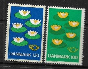 Denmark 597-598 set MNH 1977 Lilies