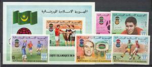 Mauritania 399-401,C187-89 MNH imperf. Football-78