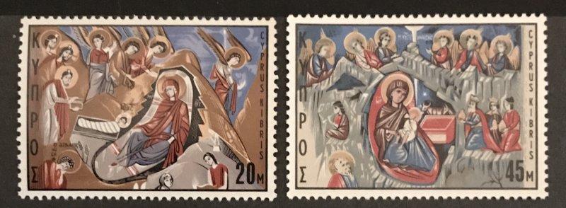 Cyprus MNH 335-6 Christmas