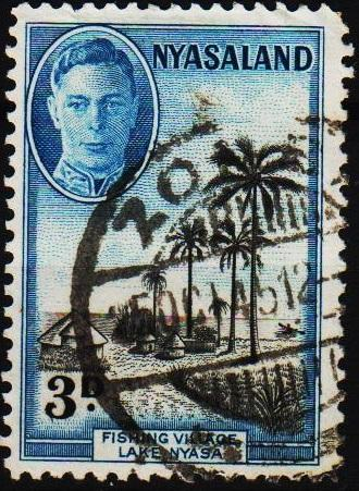 Nyasaland. 1945 3d S.G.148 Fine Used