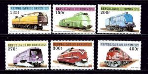 Benin 959-64 MNH 1997 Trains
