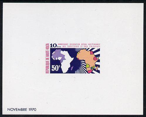 Upper Volta 1970 Tenth Anniversary of United Nations Decl...