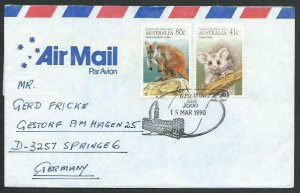 AUSTRALIA 1990 cover to Germany - nice franking - Sydney pictorial pmk.....14795