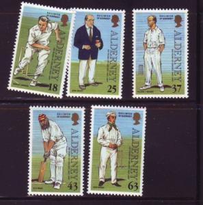 Alderney Sc 101-5 1997 Cricket Club stamps mint NH