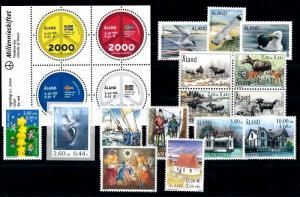 Aland Åland 2000 Complete Year Set MNH