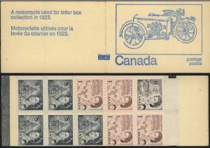 Canada USC #BK71d Counter on Blue Cover Motorcycle F+-VF NH