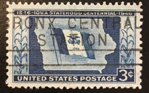 942 Iowa, Circulated single, Vic's Stamp Stash