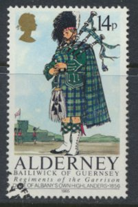 Alderney  SG A24  SC# 24 Military Uniforms Used First Day Cancel - as per scan