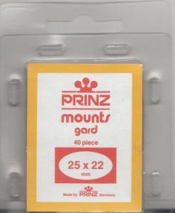 PRINZ BLACK MOUNTS 25X22 (40) RETAIL PRICE $3.99