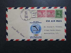 US SC# 716 FDC w/ Olympics Poster Stamp & Extra Issue - Z9093
