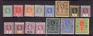 Sierra Leone-Sc#103-17-unused hinged short set to the 5sh-KEVII-please note #104