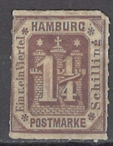 COLLECTION LOT OF #1095 GERMANY STATES HAMBURG # 24 MH 1903+ REPRINT
