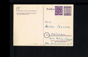 1946 - Allied Occupation Postcard - adressed but not cancelled [B09_142]