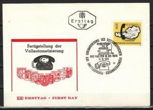 Austria, Scott cat. 937. Telephone Systen. First day cover. *